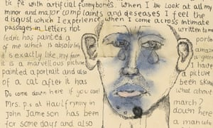 Letter to Stephen Spender (1941) - Self-Portrait - one of the unpublished letters written by a teenage Lucian Freud