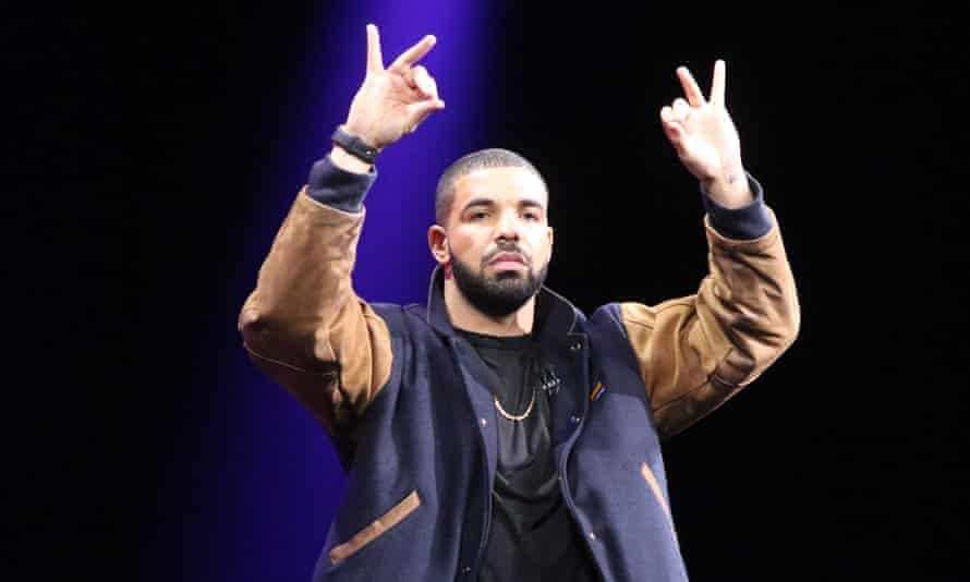 Rapper Drake performs on stage at the WWDC 2015 Apple developers conference