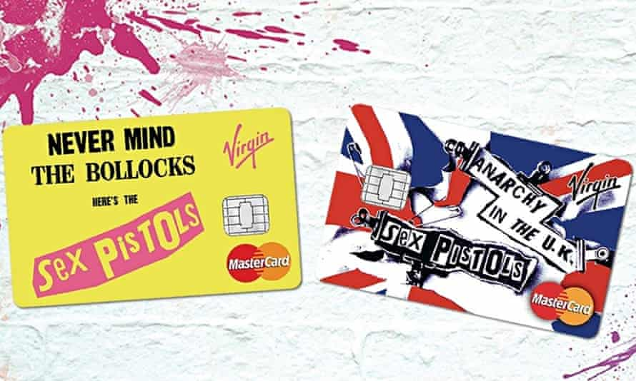 Sex Pistols virgin credit cards