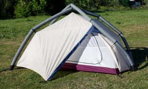 The Heimplanet inflatable tent.