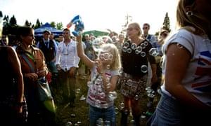 The Belladrum festival.