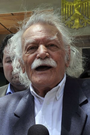 Manolis Glezos, a legendary figurehead.
