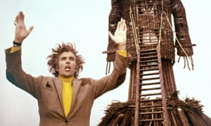 Wickstarter ... Christopher Lee in the original Wicker Man, which might be getting a crowdfunded sequel.