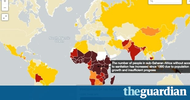 Access to clean water and sanitation around the world  mapped