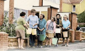 The 1976 water shortage meant that some UK households were limited to buckets of water from standpipes