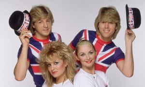 Bucks Fizz (clockwise from top left): Bobby G, Mike Nolan, Cheryl Baker and Jay Aston.