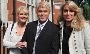 Cheryl Baker, Mike Nolan and Jay Aston arrive at the Trade Marks Bureau, London, in 2011 to hear judgment on a long-running dispute over the rights to the Bucks Fizz name.