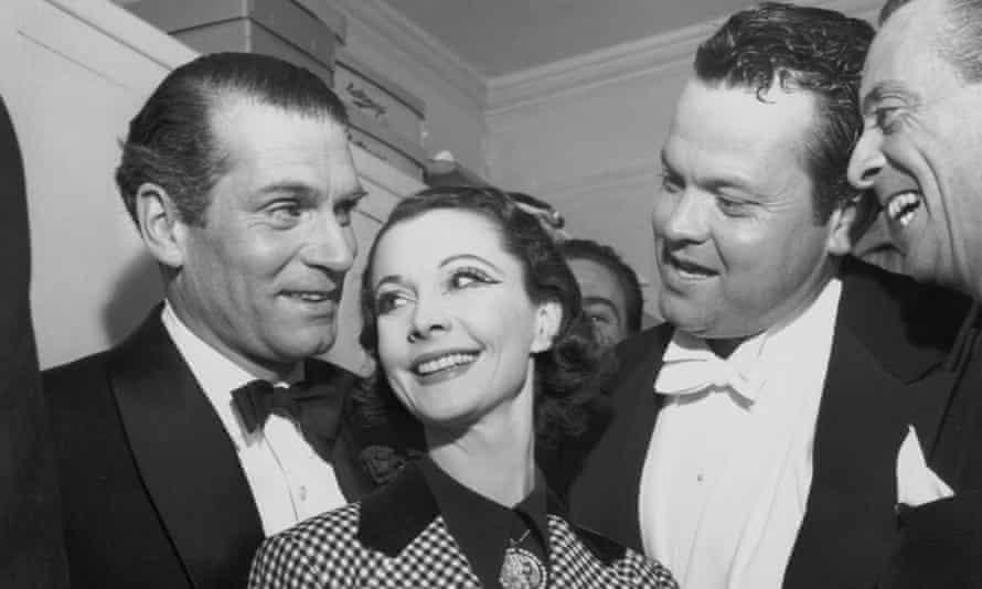 Vivien Leigh, her then husband Laurence Olivier, Orson Welles and Australian performer Robert Helpmann.