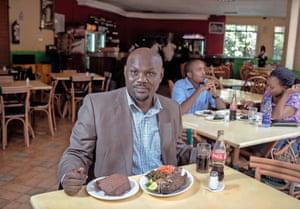 jack okinyi having lunch in nairobi