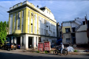 A house with art-deco features next to a demolished dwelling on Hindustan Park.