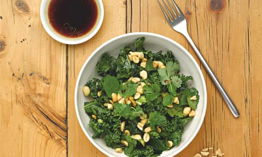 Leon: kale and peanut salad
