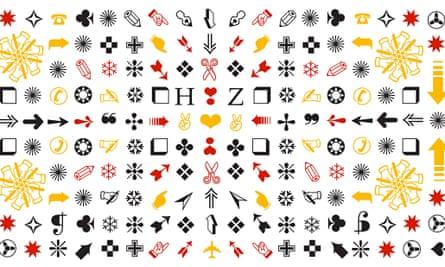 Zapf Dingbats symbols in a pattern