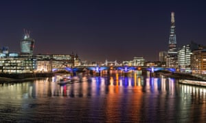 The London night skyline. Sharing such pictures could mean violating the copyright of each building's architect, under the law, and 'the UK creative industry would be encumbered with interminable bureaucracy'.