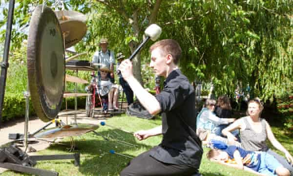 Performance of John Luther Adams' Inuksuit at East Neuk Festival/Cambo House walled garden in July 2013