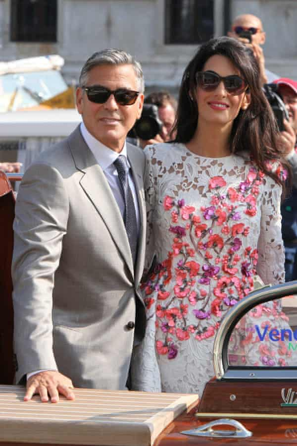 Newlyweds George Clooney and Amal Alamuddin