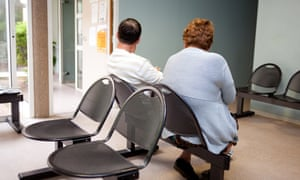 A doctor's waiting room