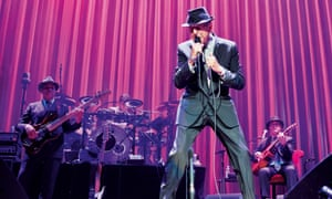 Leonard Cohen at the First Direct Arena in Leeds.