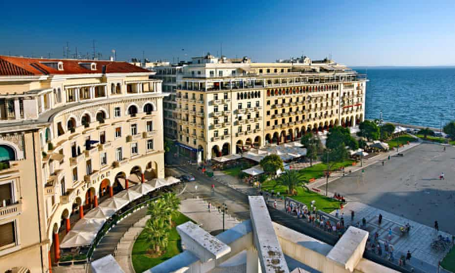 Partial view of Aristotelous square, one of the main squares of Thessaloniki.