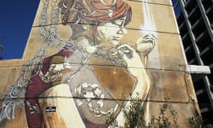 Mural by the street artists DAL and Faith47, Thessaloniki, Greece.