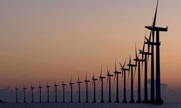 Offshore windfarm, Middelgrunden, Copenhagen, Denmark