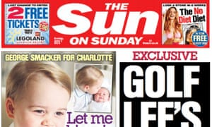 Sun on Sunday: pulled back ahead of the Mail on Sunday in June