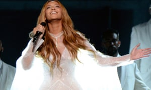 Beyonce Knowles performs during the Grammys on 8 February 2015