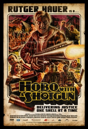 Tom Hodge's poster design for Rutger Hauer's Hobo With a Shotgun