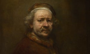 Rembrandt stares down disdainfully from the walls at the National Gallery in his Self Portrait at the Age of 63.