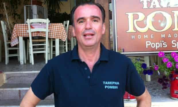 Antonis Gikas, manager of Hotel Romvi