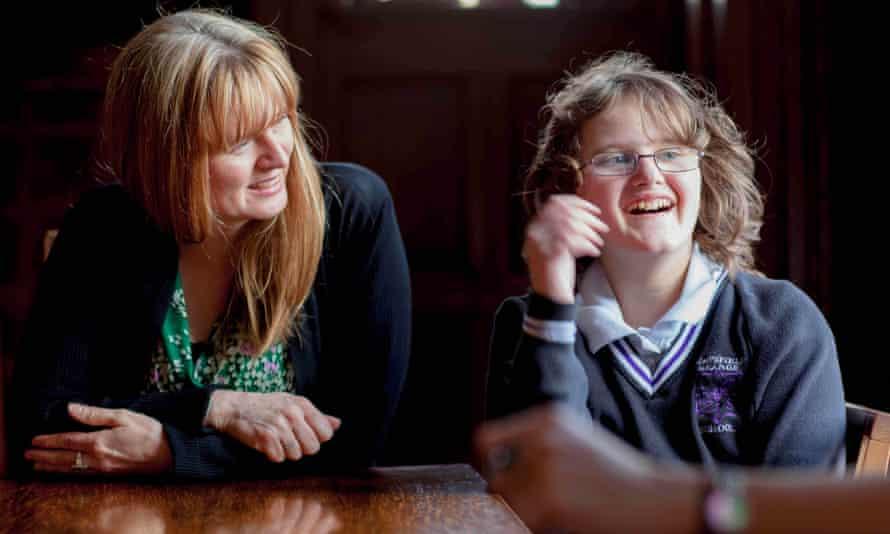Headteacher Sarah Wild  and pupil Abigail