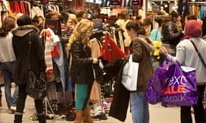 Shoppers at the Westfield centre, Stratford, east London