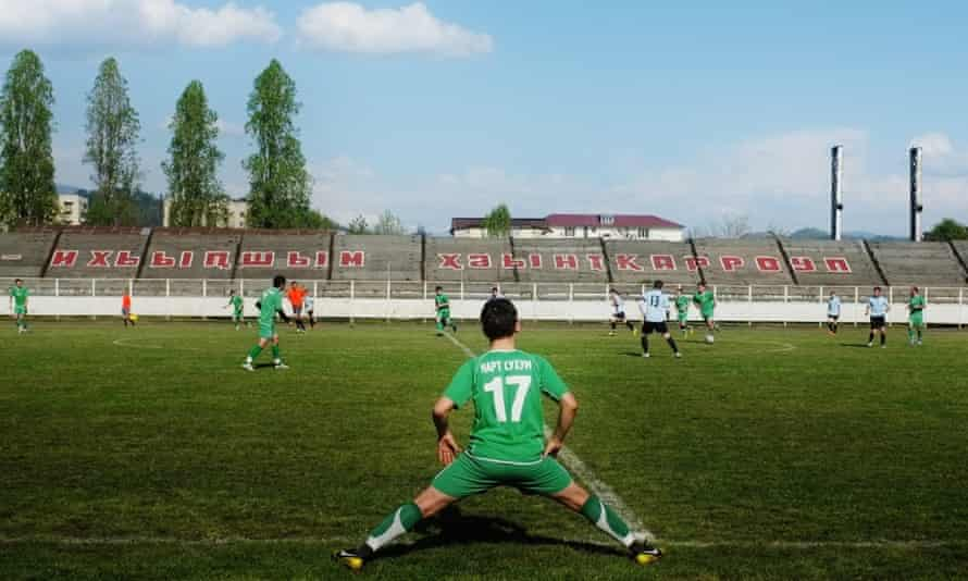 Abkhazia's 2014 cup final, played in the capital's old stadium. A new one has been ahead of the 2016 games.