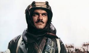 Omar Sharif as the Arab chieftain Sherif Ali in Lawrence of Arabia (1962).