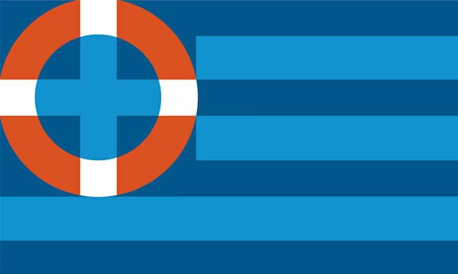 Noma Bar's lifebuoy for Greece
