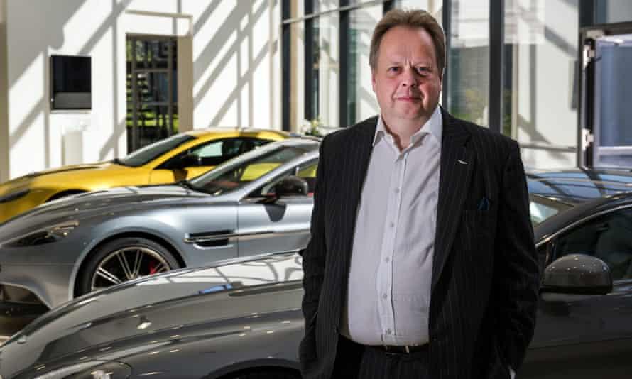 Andy Palmer at the Aston Martin factory.