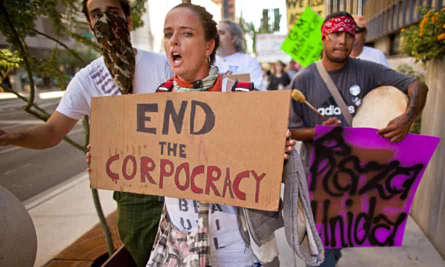 Occupy Wall Street protesters in Phoenix, Arizona.