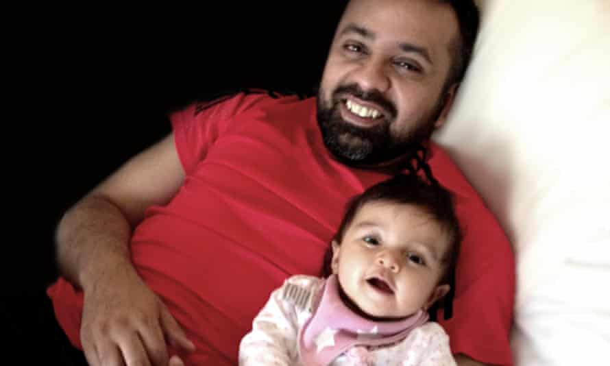 Anis Sardar with his daughter