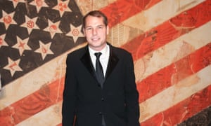 A suited Shepard Fairey at the Americans For The Arts National Arts Awards Benefit in New York.