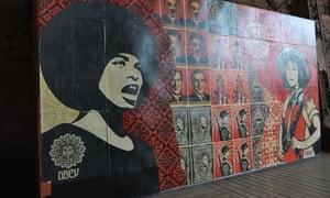 Mural by Shepard Fairey Urban Art Biennale 2015, Volklingen, Germany.