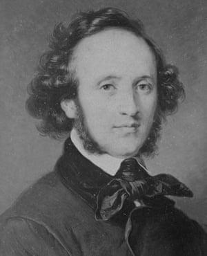 German Composer Felix Mendelssohn-Bartholdy, around 1830.