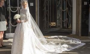 Nicky Hilton in her wedding dress.