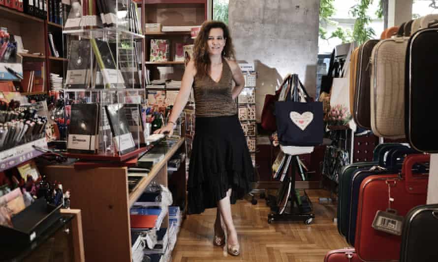 Stationery shop owner Marianthi Valentza