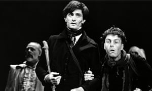 Roger Rees, left, as Nicholas Nickleby in 1980.