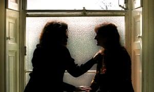 A FEMALE COUNSELLOR COMFORTS A FEMALE PATIENT. Image shot 2001. Exact date unknown.