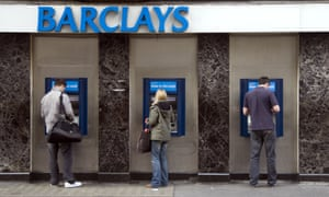 Row of Barclays ATMs