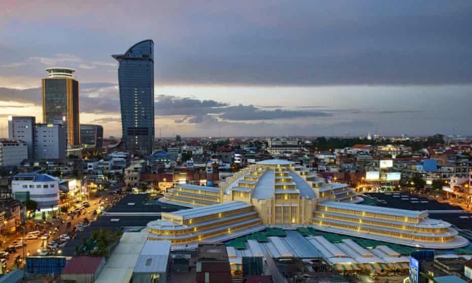 The Vattanac Capital Tower in Phnom Penh is Cambodia's tallest building.