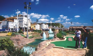 Crazy golf on the seafront Hastings, East Sussex