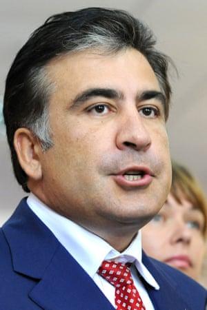 Mikheil Saakashvili, as president of Georgia in 2012