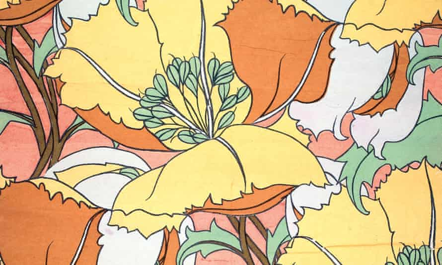 Eustacia' print impression, printed at Liberty and Co. Ltd Merton print works, 1960
