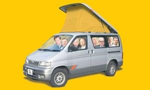 Lib Dems in a Mazda Bongo